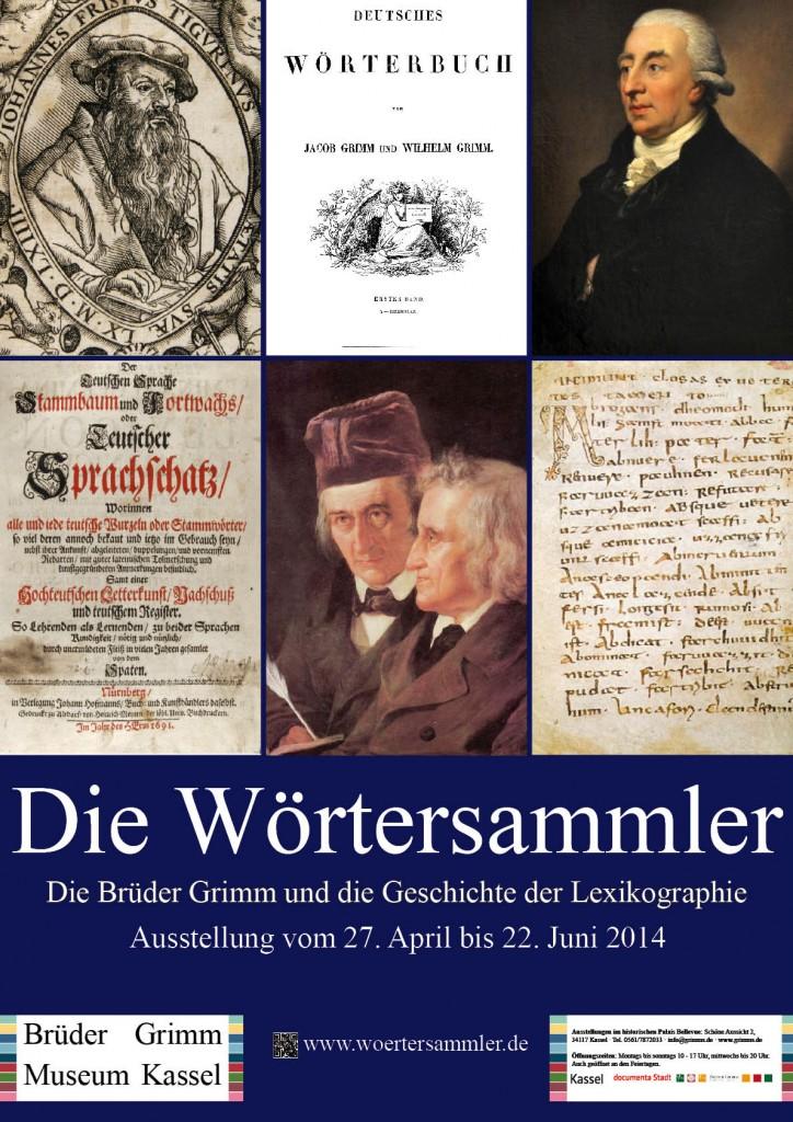 """Ausstellungsplakat """"Die Wörtersammler"""""""
